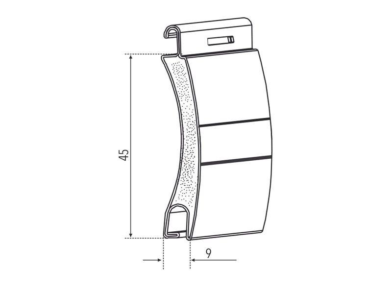 Tapparella avvolgibile MINI in alluminio coibentato a bassa densità