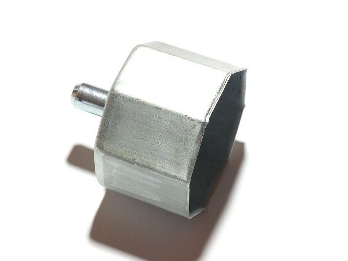 Calotta per tapparella, rullo zincato liscio da mm.60