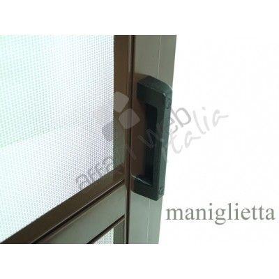 Zanzariera per balcone a pannello scorrevole orizzontale con telaio