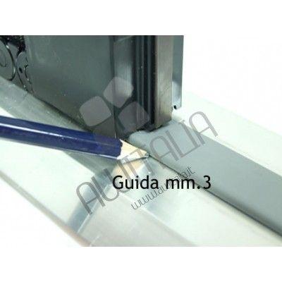 Zanzariera Plissè con guida da 3 mm a scorrimento laterale